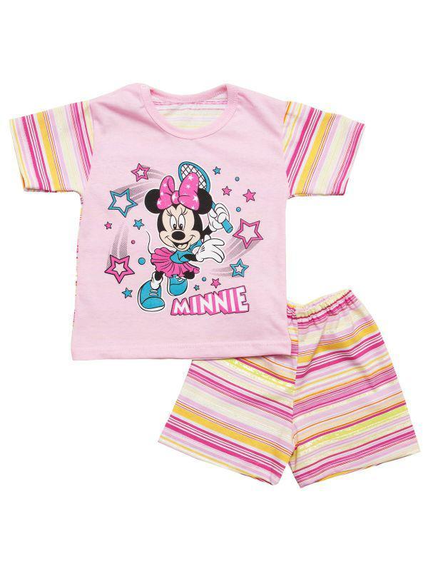 Летний комплект для девочки шорты и футболка