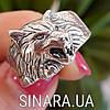 Мужская серебряная печатка кольцо Волк - Кольцо Волк серебро