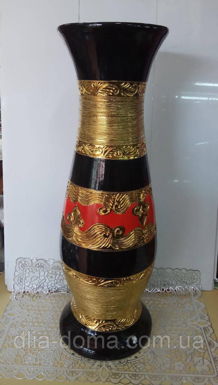 Ваза  с золотом 75 см
