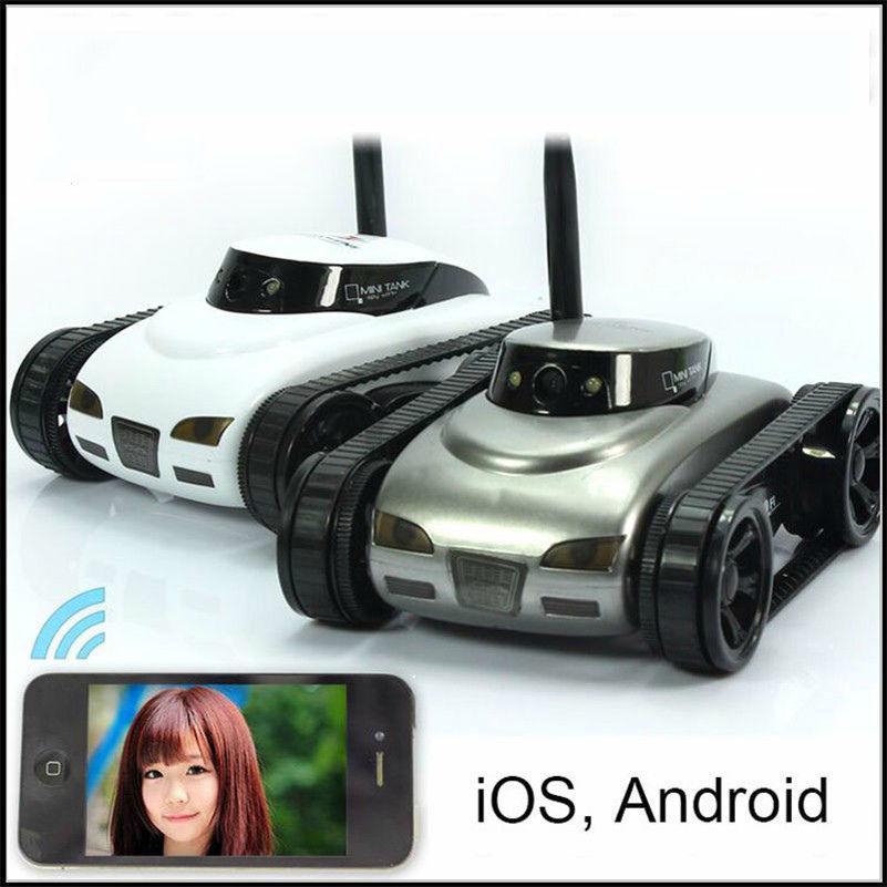 Мини-танк, дистанционное управление-(0.3mp камера и WiFi).