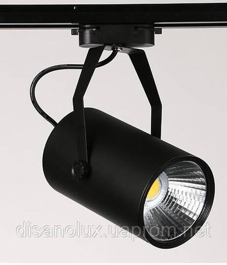 Светильник светодиодный трековый на шинопровод  COB  30W, AC185-265V, Black, 4000K