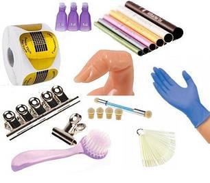 Дополнительные и расходные материалы - перчатки,палитры, салфетки, зажимы, формы, палочки и т.д.
