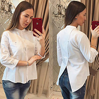 Блуза белая чёрная синяя, фото 1