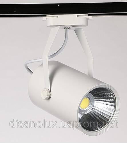 Светильник светодиодный трековый на шинопровод  COB  30W, AC185-265V, White, 6000K