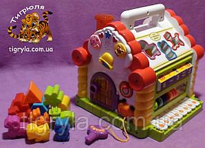 Теремок - игрушка развивающая сортер, фото 3