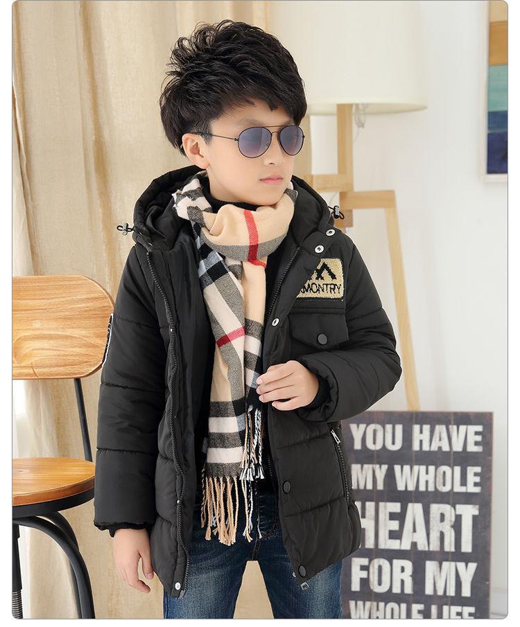Подростковая зимняя куртка-парка для мальчиков зимняя.