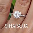Серебряное кольцо солитер с одним камнем, фото 3