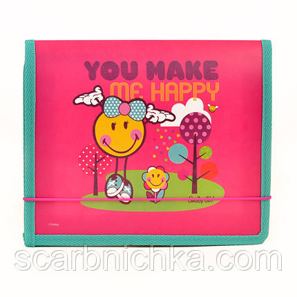 """Папка на резинке """"YES"""" B5 пластик 491377 """"Smiley World"""", фото 2"""