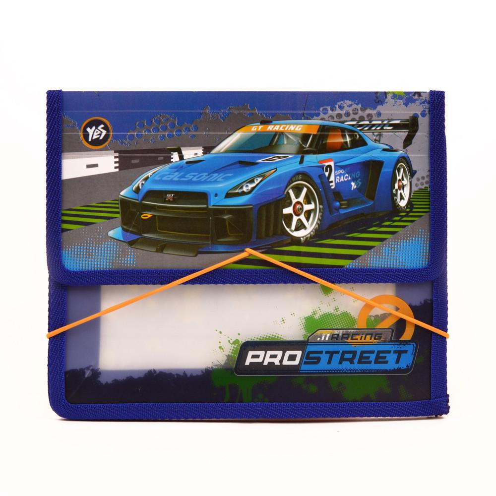 """Папка на резинке """"YES"""" B5 пластик 491387 """"Street racing"""""""