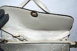 Женский молодежный серебристый клатч на ремешке 26*17 см, фото 2