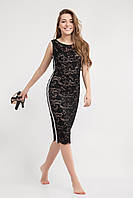 Облегающее женское платье черного цвета