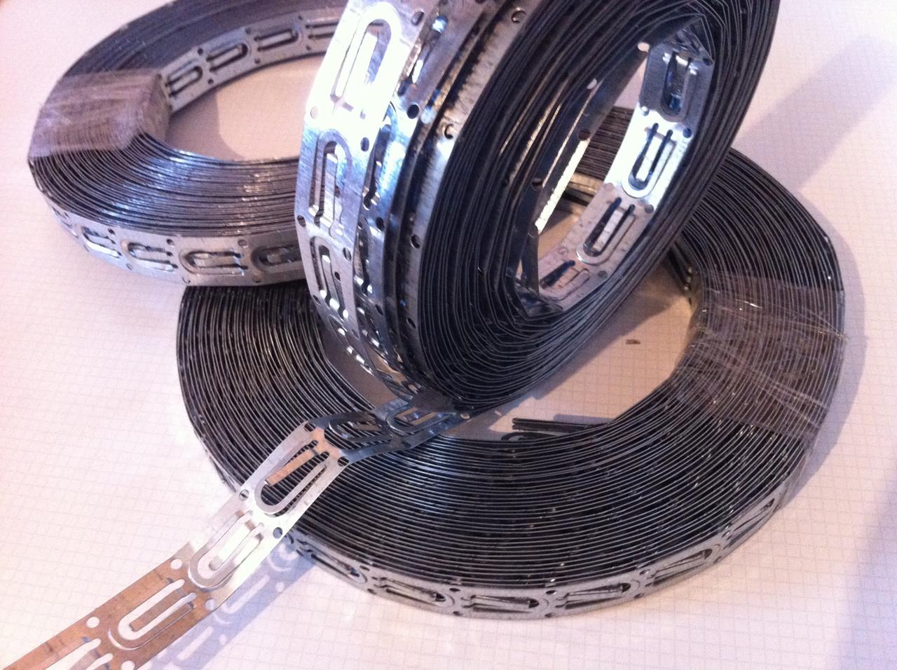Оцинкованная стальная монтажная лента для крепления кабеля ( 20 метров )