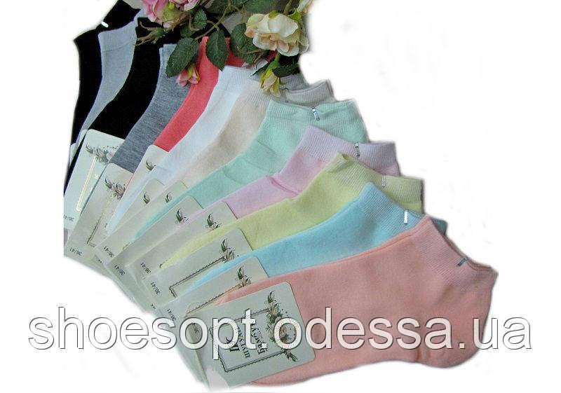 Женские носочки короткие бабмбук пастель, носки женские молодежные, фото 1