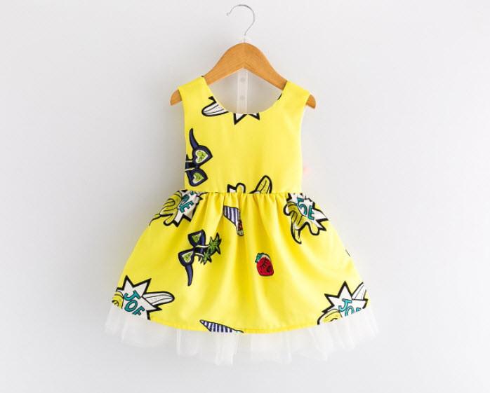Платье желтое 100