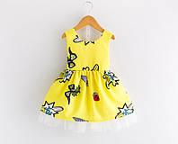 Платье желтое 100, фото 1