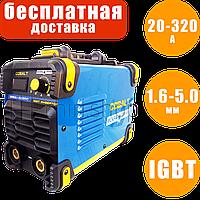 Сварочный инверторный аппарат 20-320 А, 1.6-5 мм, сварочный инвертор Искра-Профи Cobalt MMA 320 DC сварка