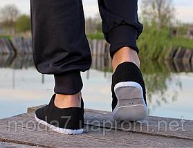 Мокасины - чешки мужские черные на шнурках, фото 2