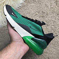 Кроссовки Nike Air Max 270 Черный/Зеленый (реплика люкс класса 1:1), фото 1