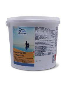 Кемохлор СН-Таблетки (7 g), 25 кг. Химия для общественных бассейнов Chemoform (Fresh Pool), фото 2