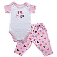 "Комплект детский ""I love hugs"" 9-12 мес. Hudson Baby"