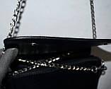 Женский стильный зеленый клатч на цепочке 20*12 см, фото 2