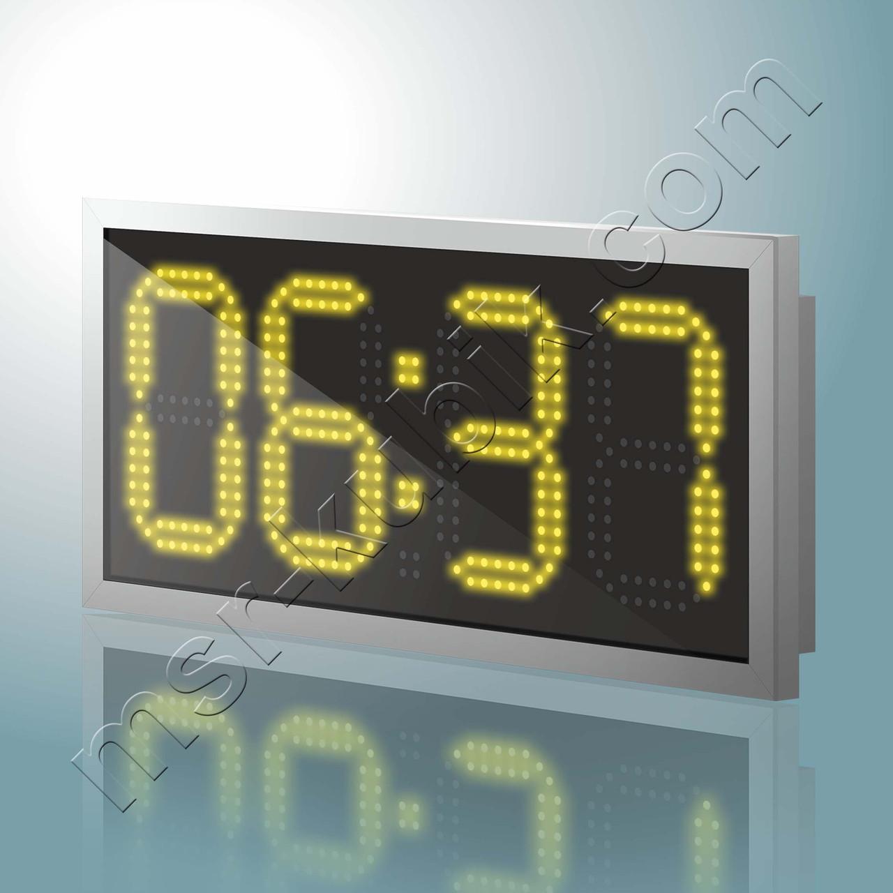 Светодиодные уличные часы с термометром 570x270