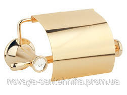 Держатель для туалетной бумаги, золото, кристалы
