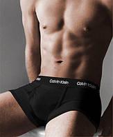 Труси чоловічі Calvin Klein 365 Кельвін Кляйн чорні з чорною гумкою (репліка)