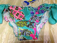 Яркие бирюзовые купальные трусики для девочек