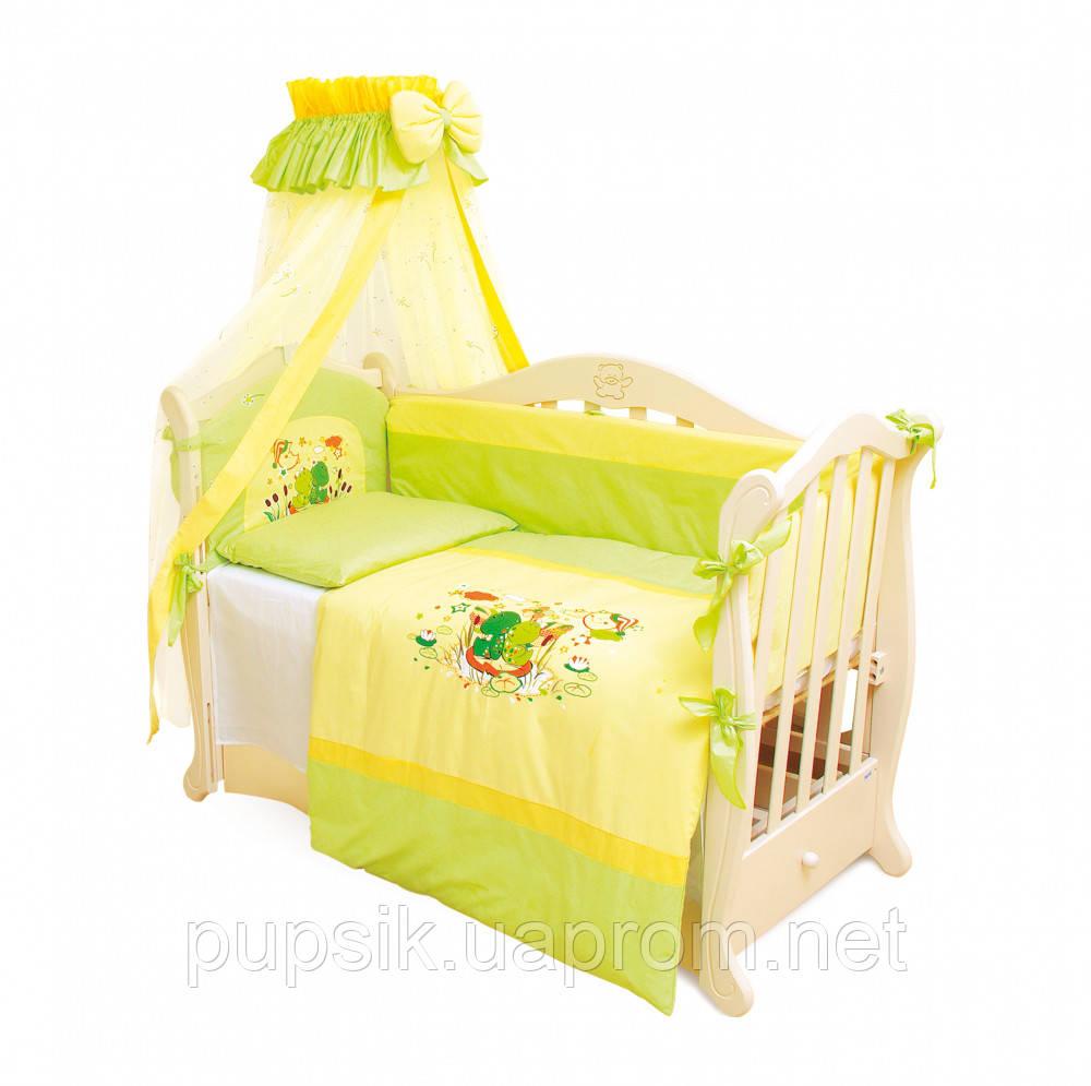 Детская постель Twins Evolution Лягушата А-014 (7 элементов)