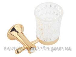 Стакан для зубных щеток золото, кристалы