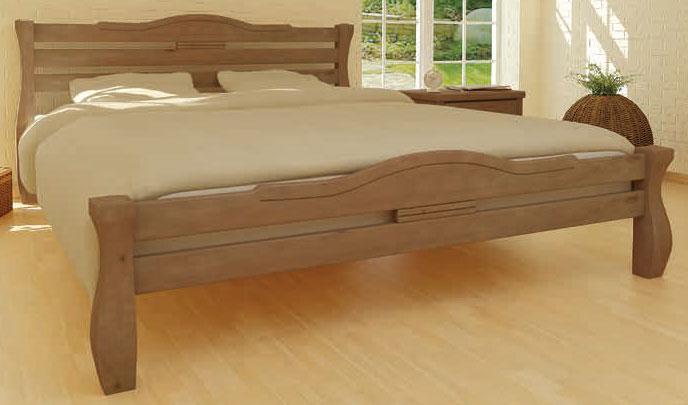Ліжко дерев'яна Монако 180х200 Mebigrand сосна горіх світлий