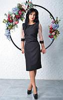 Элегантное черное платье футляр, фото 1