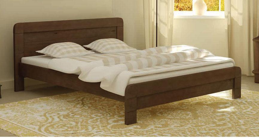 Кровать деревянная Тоскана 160х200 Mebigrand сосна орех темный