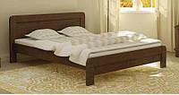Кровать деревянная Тоскана 160х200 Mebigrand сосна орех темный, фото 1
