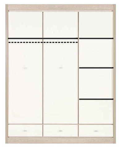 Шкаф 3-х дверный BOGFRAN AXEL AX10, фото 2