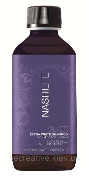 Шампунь для светлых, седых волос NASHI Life Chroma Save Shampoo SILVER, 200 мл