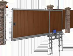 Базовая схема откатных ворот