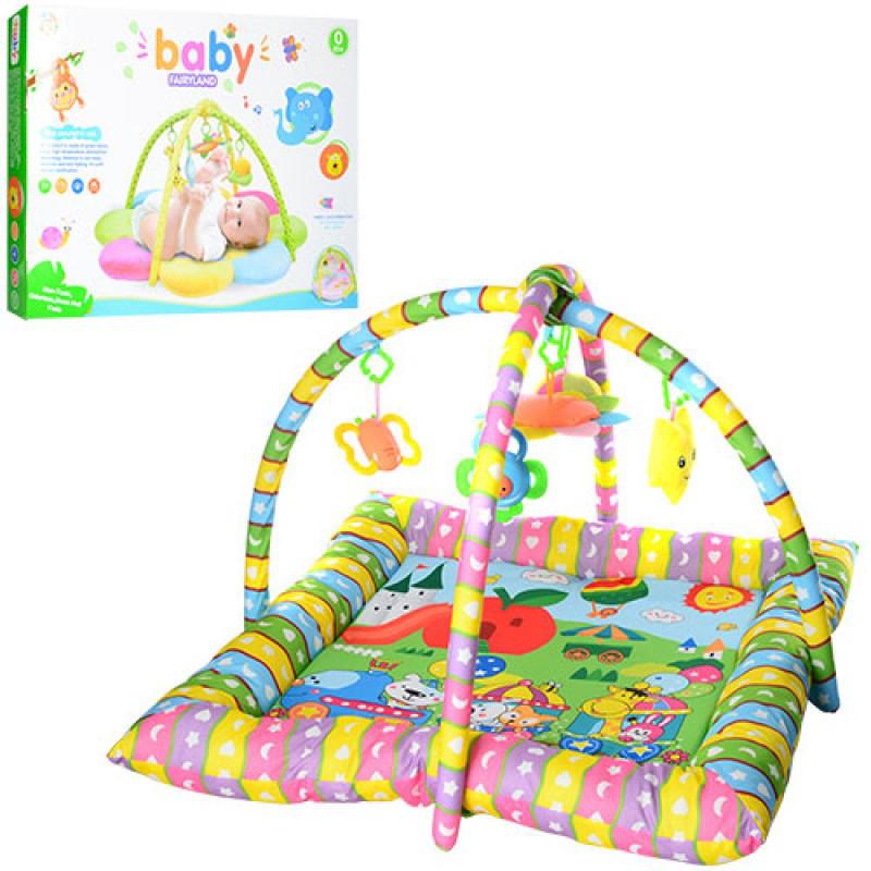 Развивающий коврик для младенца с дугами 2 шт, подвески 4 шт, PE916
