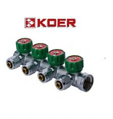 """Koer 1121-4 3/4""""x4 WAYS коллектор вентильный с фитингом, фото 2"""