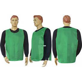 Манишка  накидка на резинке (подкл) зеленая