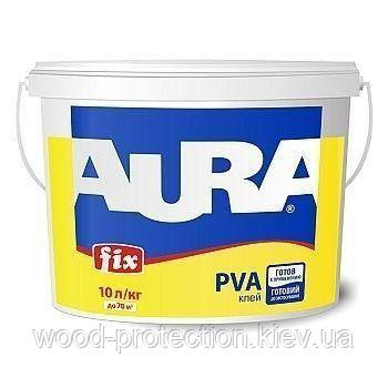 Клей ПВА будівельний Aura Fix PVA 10л