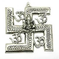РАСПРОДАЖА Ганеша с символом солнца (16х14,5х см)(Непал)