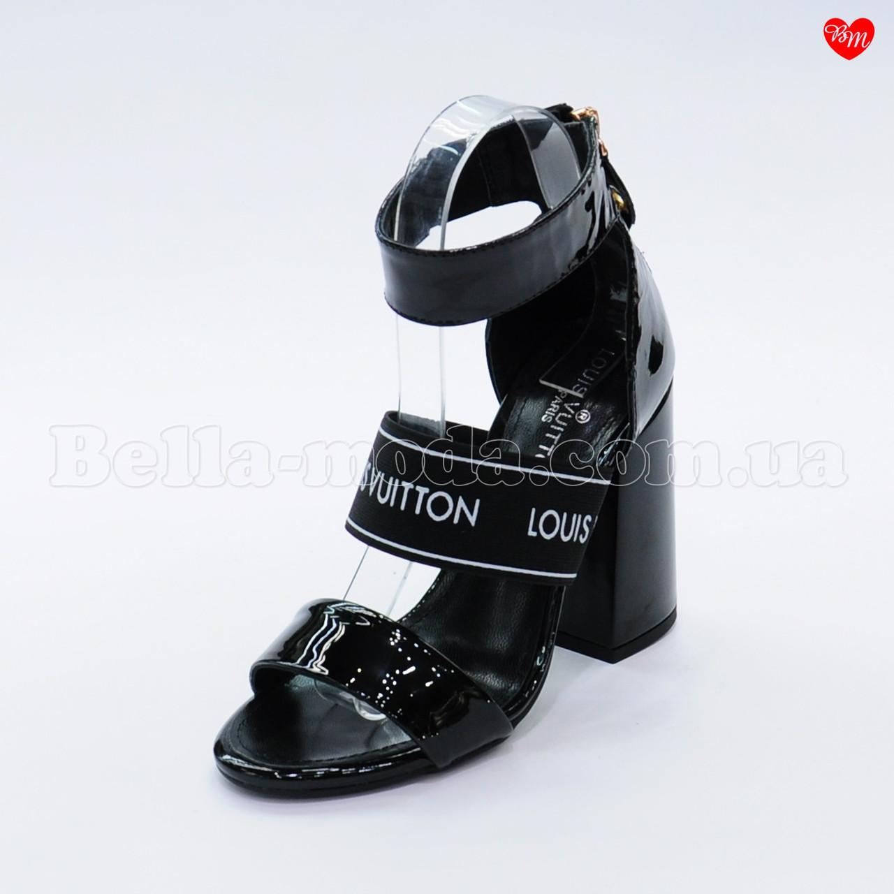 Женские лаковые босоножки Louis Vuitton - интернет-магазин