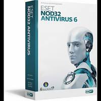 ESET NOD32 Antivirus-6 2ПК 1год box
