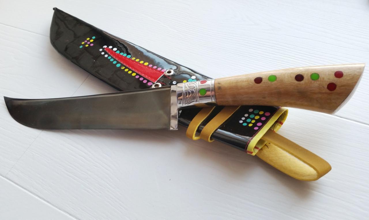 Узбекский нож с рукоятью из дерева