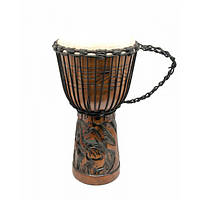 Барабан джембе резной дерево с кожей (50х27х27 см)