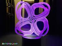 """3D Ночник на подарок """"Инфинито"""" 3DTOYSLAMP, фото 1"""