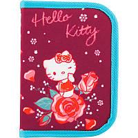 Школьный раскладной пенал kite hk18-621-2 hello kitty на один отворот