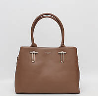 Стильная женская кожаная (кожа искусственная) сумка David Jones